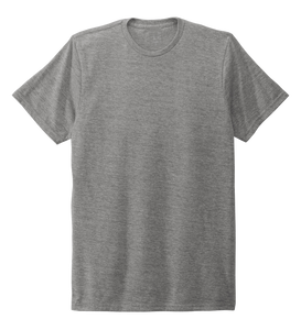 Unisex Crew Neck T-shirt in Oyster Grey