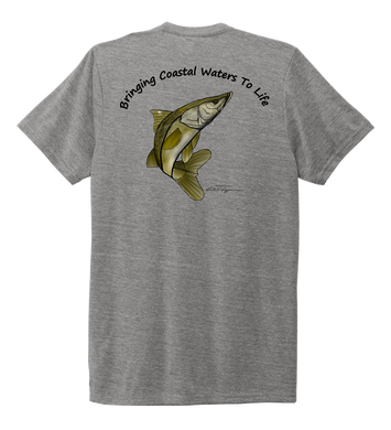 Ocean Habitats & Colin Thompson Collaboration - Unisex Crew Neck T-shirt in Oyster Grey