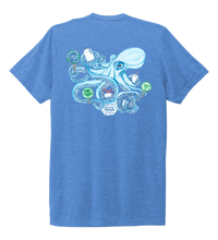 Load image into Gallery viewer, Lauren Gilliam, Octopus, Unisex Crew Neck T-shirt in Sky Blue