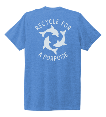 StepChange, Porpoise, Unisex Crew Neck T-shirt in Sky Blue