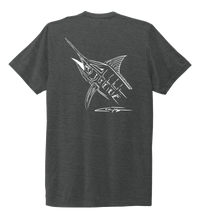 Load image into Gallery viewer, Colin Thompson, Marlin, Crew Neck T-Shirt in Slate Black