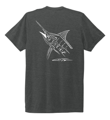 Colin Thompson, Marlin, Crew Neck T-Shirt in Slate Black