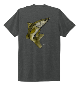 Colin Thompson, Snook, Crew Neck T-Shirt in Slate Black