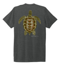 Load image into Gallery viewer, Colin Thompson, Turtle, Crew Neck T-Shirt in Slate Black