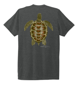 Colin Thompson, Turtle, Crew Neck T-Shirt in Slate Black