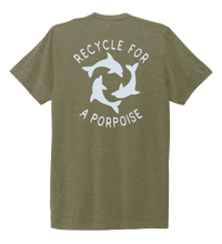 Load image into Gallery viewer, StepChange, Porpoise, Unisex Crew Neck T-shirt in Earthy Green