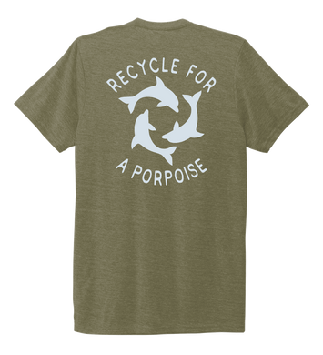 StepChange, Porpoise, Unisex Crew Neck T-shirt in Earthy Green