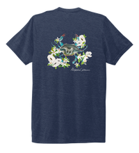 Load image into Gallery viewer, Alexandra Catherine, Blue Crab, Unisex Crew Neck T-shirt in Deep Sea Blue