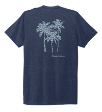 Load image into Gallery viewer, Alexandra Catherine, Palm Trees, Unisex Crew Neck T-shirt in Deep Sea Blue