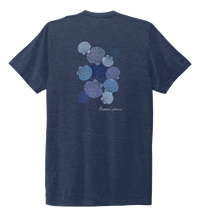 Load image into Gallery viewer, Alexandra Catherine, Tossed Seashells, Unisex Crew Neck T-shirt in Deep Sea Blue