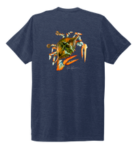 Load image into Gallery viewer, Ronnie Reasonover, The Crab, Crew Neck T-Shirt in Deep Sea Blue