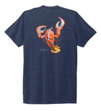 Load image into Gallery viewer, Ronnie Reasonover, The Lobster, Crew Neck T-Shirt in Deep Sea Blue