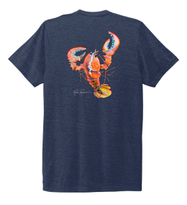 Ronnie Reasonover, The Lobster, Crew Neck T-Shirt in Deep Sea Blue