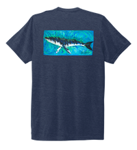 Load image into Gallery viewer, Ronnie Reasonover, The Whale, Crew Neck T-Shirt in Deep Sea Blue