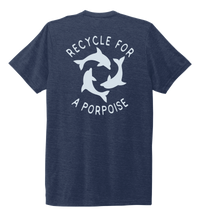 Load image into Gallery viewer, StepChange, Porpoise, Unisex Crew Neck T-shirt in Deep Sea Blue