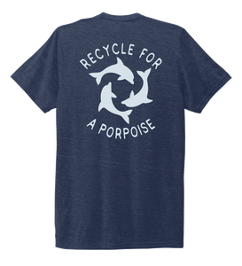 StepChange, Porpoise, Unisex Crew Neck T-shirt in Deep Sea Blue