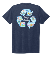 Load image into Gallery viewer, Lauren Gilliam, Recycle, Unisex Crew Neck T-shirt in Deep Sea Blue