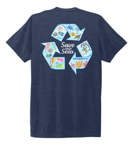 Lauren Gilliam, Recycle, Unisex Crew Neck T-shirt in Deep Sea Blue