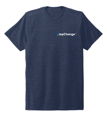 StepChange Unisex Crew Neck T-shirt in Deep Sea Blue
