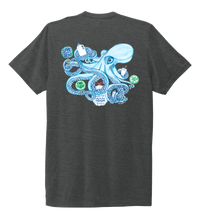 Load image into Gallery viewer, Lauren Gilliam, Octopus, Unisex Crew Neck T-shirt in Slate Black