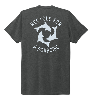 StepChange, Porpoise, Unisex Crew Neck T-shirt in Slate Black