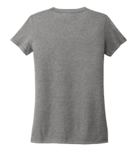 Load image into Gallery viewer, Women's V-neck T-shirt in Oyster Grey