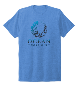 Ocean Habitats & Colin Thompson Collaboration - Unisex Crew Neck T-shirt in Sky Blue