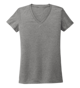 Women's V-neck T-shirt in Oyster Grey