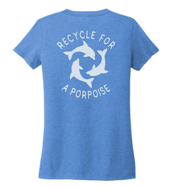 StepChange, Porpoise, Women's V-neck T-shirt in Sky Blue