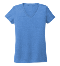 Load image into Gallery viewer, Women's V-neck T-shirt in Sky Blue