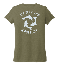Load image into Gallery viewer, StepChange, Porpoise, Women's V-neck T-shirt in Earthy Green