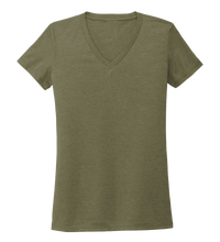 Load image into Gallery viewer, Women's V-neck T-shirt in Earthy Green