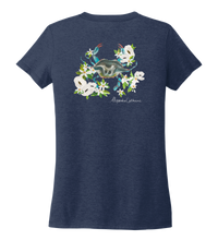 Load image into Gallery viewer, Alexandra Catherine, Blue Crab, Women's V-neck T-shirt in Deep Sea Blue