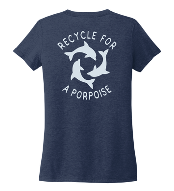 StepChange, Porpoise, Women's V-neck T-shirt in Deep Sea Blue
