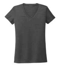 Load image into Gallery viewer, Women's V-neck T-shirt in Slate Black