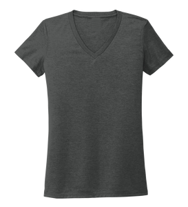 Women's V-neck T-shirt in Slate Black