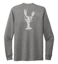 Load image into Gallery viewer, Alexandra Catherine, Fleur White Lobster, Unisex Crew Neck Long Sleeve T-shirt in Oyster Grey