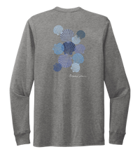 Load image into Gallery viewer, Alexandra Catherine, Tossed Seashells, Unisex Crew Neck Long Sleeve T-shirt in Oyster Grey