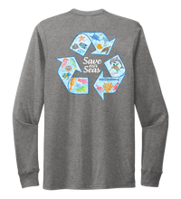 Load image into Gallery viewer, Lauren Gilliam, Recycle, Unisex Crew Neck Long Sleeve T-shirt in Oyster Grey