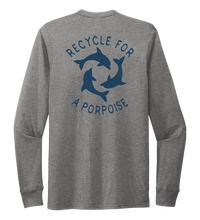 Load image into Gallery viewer, StepChange, Porpoise, Unisex Crew Neck Long Sleeve T-shirt in Oyster Grey