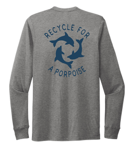StepChange, Porpoise, Unisex Crew Neck Long Sleeve T-shirt in Oyster Grey