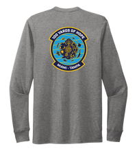 Load image into Gallery viewer, FORCE BLUE 100 YARDS OF HOPE Unisex Crew Neck Long Sleeve T-shirt in Oyster Grey