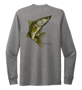 Colin Thompson, Snook, Crew Neck Long Sleeve T-Shirt in Oyster Grey