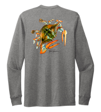 Load image into Gallery viewer, Ronnie Reasonover, The Crab, Crew Neck Long Sleeve T-Shirt in Oyster Grey