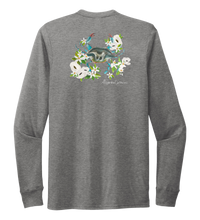 Load image into Gallery viewer, Alexandra Catherine, Blue Crab, Unisex Crew Neck Long Sleeve T-shirt in Oyster Grey