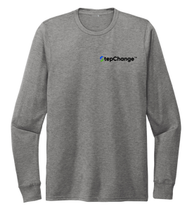 StepChange Unisex Crew Neck Long Sleeve T-shirt in Oyster Grey