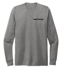 Load image into Gallery viewer, Lauren Gilliam, Dolphin, Unisex Crew Neck Long Sleeve T-shirt in Oyster Grey
