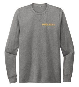 FORCE BLUE 100 YARDS OF HOPE Unisex Crew Neck Long Sleeve T-shirt in Oyster Grey
