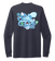 Lauren Gilliam, Octopus, Unisex Crew Neck Long Sleeve T-shirt in Deep Sea Blue
