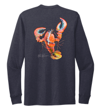 Load image into Gallery viewer, Ronnie Reasonover, The Lobster, Crew Neck Long Sleeve T-Shirt in Deep Sea Blue